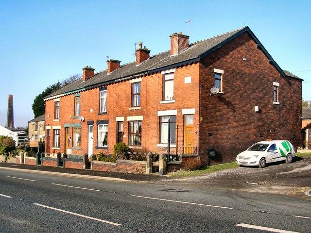 Terraced houses on Bury Road