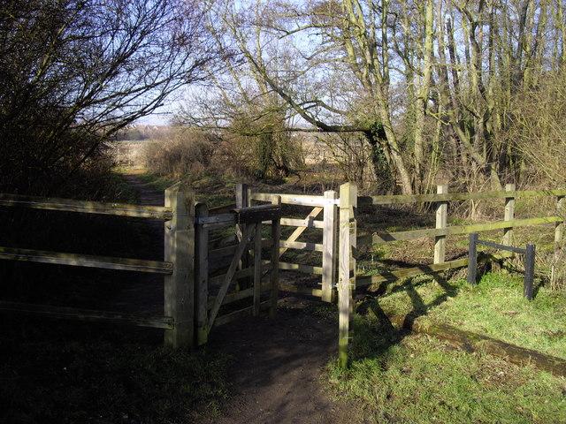 Kissing gate at Belsead Brook Park