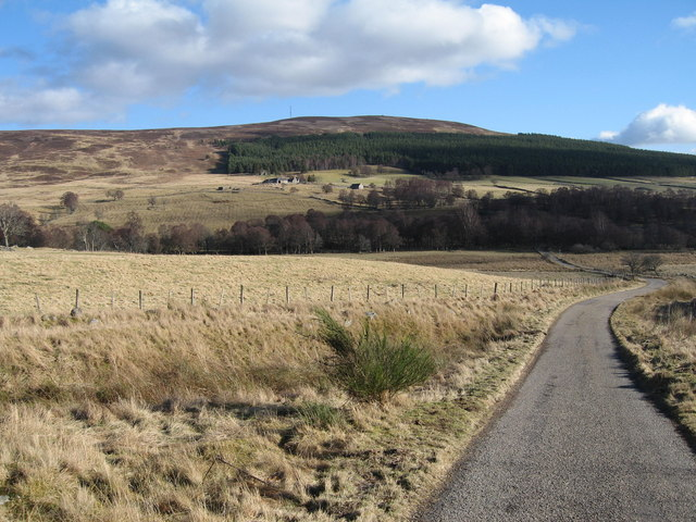 Road through fields below Auchnagallin