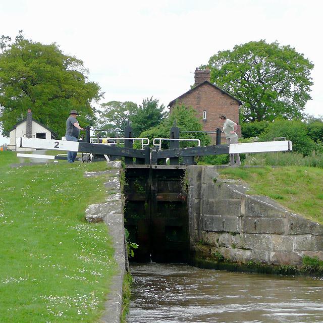 Hurleston Locks No 2, Llangollen Canal, Cheshire