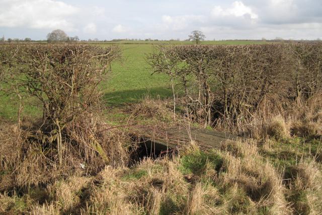 Sleeper bridge over a ditch