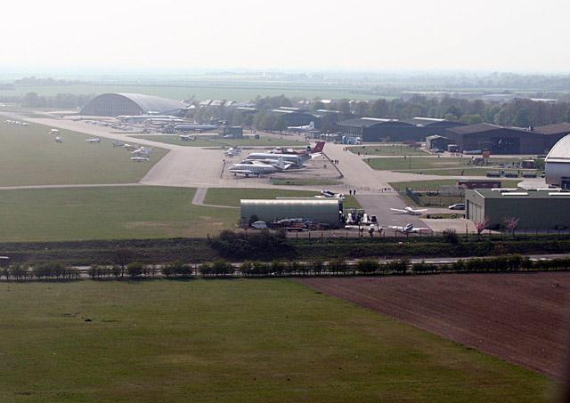 Aerial view of IWM Duxford