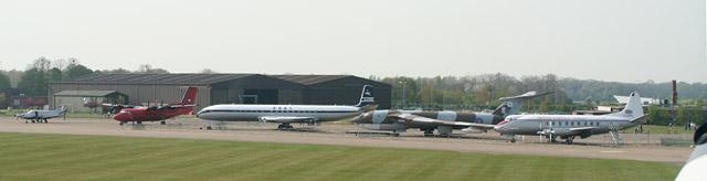 Aircraft line-up at IWM Duxford