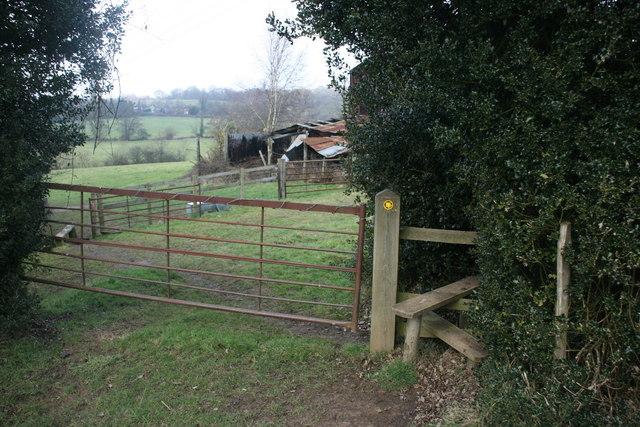 Stile on the path at Burnthouse Farm