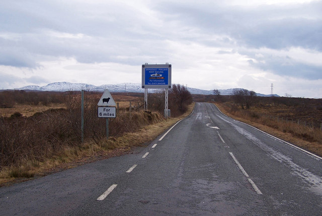 A851 towards Armadale