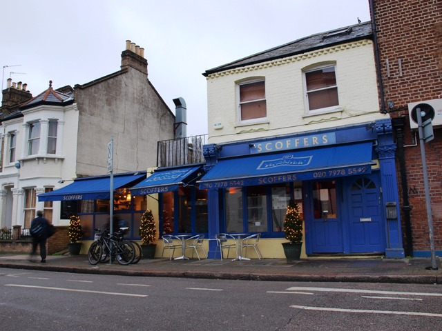 Scoffers, the only restaurant in Eccles road, SW11