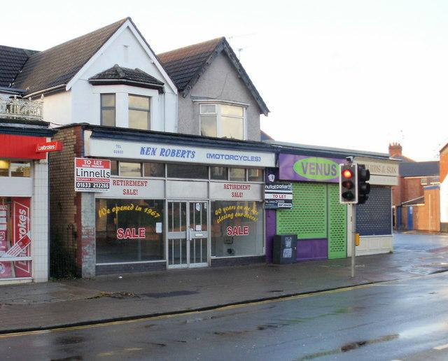 Former Ken Roberts shop, Caerleon Road
