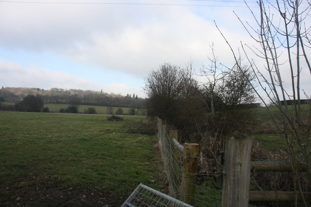 Hedge & fence near Burnthouse Farm
