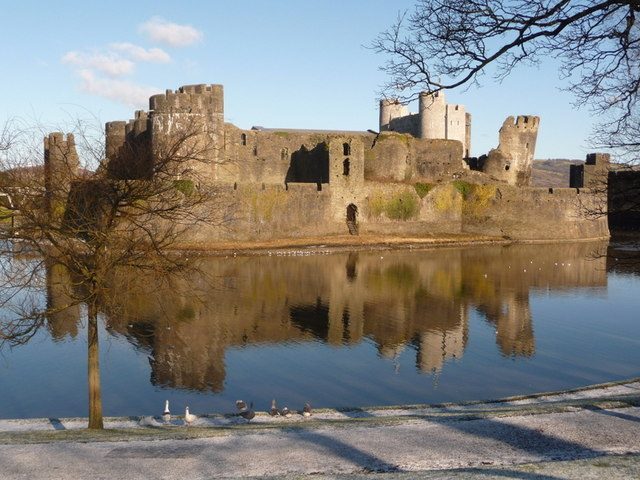 Caerphilly: the castle from the south