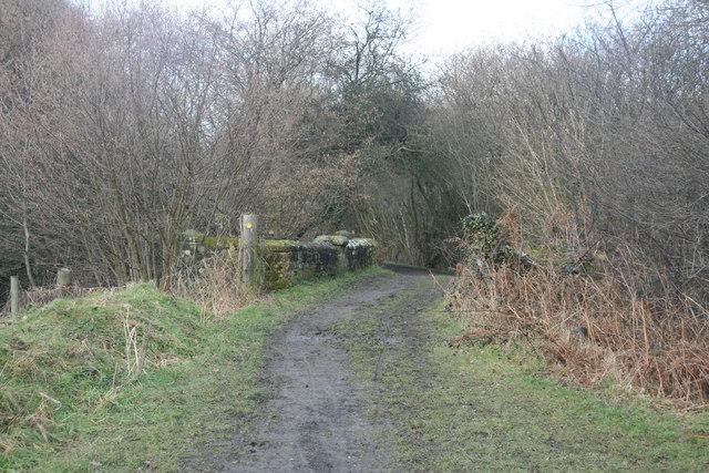 Bridleway crosses the River Medway near Brambletye