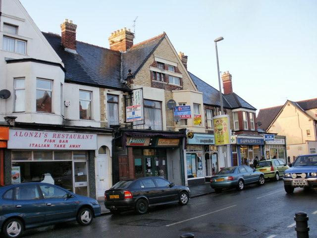 Six shops on Caerleon Road, Newport