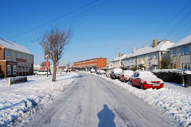 Bridgemary under snow - Nobes Avenue (1)