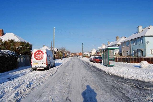 Bridgemary under snow - Nobes Avenue (3)