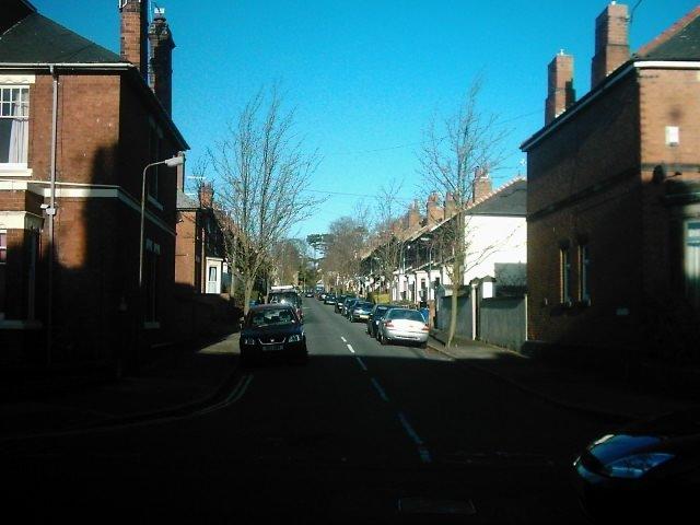 White Street from Kedleston Road, Derby