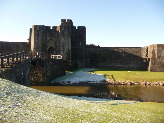 Caerphilly: eastern entrance to castle