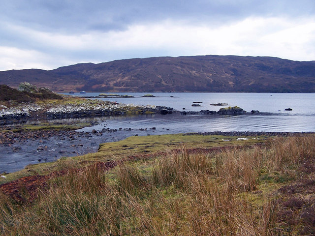 Mouth of Allt Lòn Bhuidhe