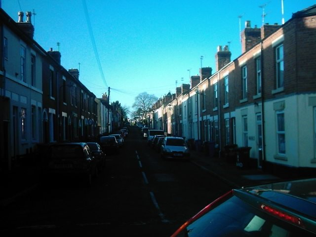 Radbourne Street from Langley Street, Derby