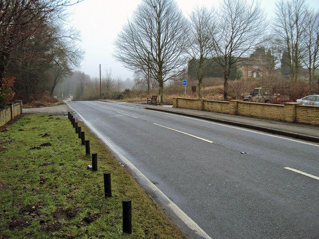 Hucknall Road near the cemetery