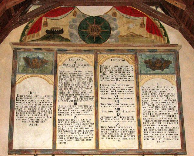 St Mary's church - C17 Commandment boards