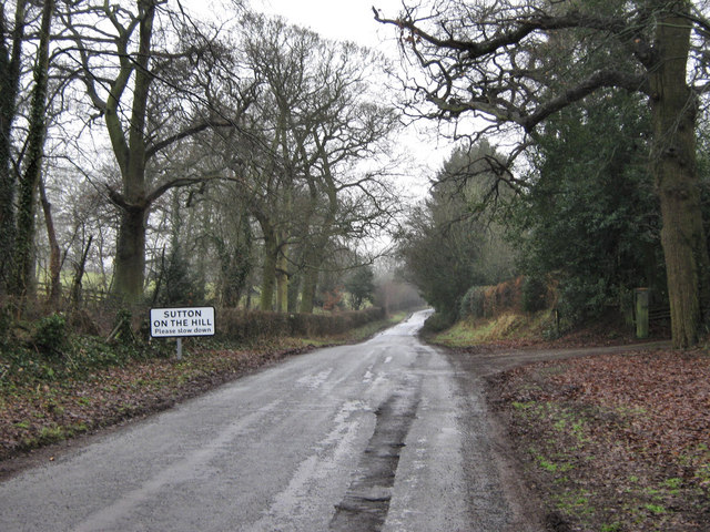 Approaching Sutton on the Hill