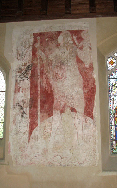St Mary's church - C14 St Christopher mural