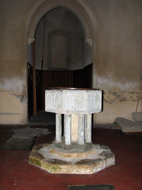 St Mary's church - C13 baptismal font