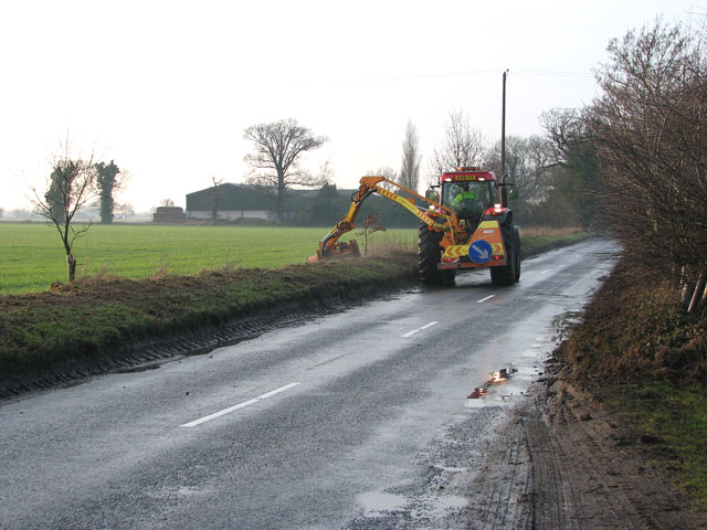 Grass cutting on Reedham Road