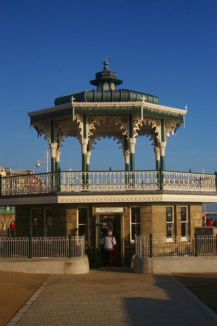 Restored Western bandstand, Brighton Beach
