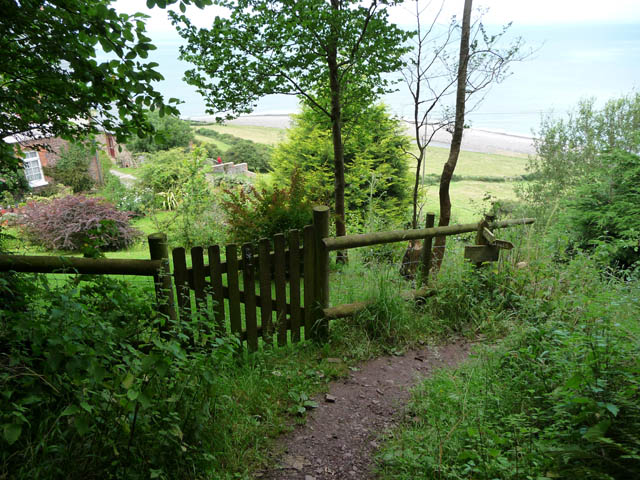 Coast path above Greenaleigh Farm