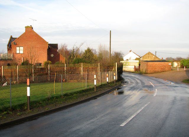 Acle Road through Moulton St Mary