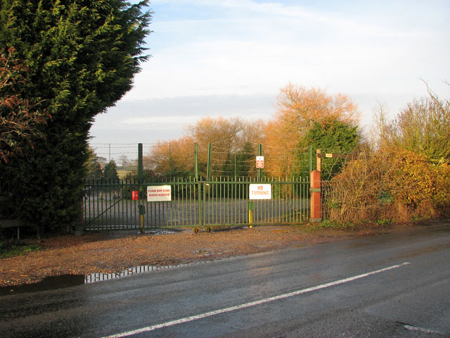 Gated yard north of Acle Road
