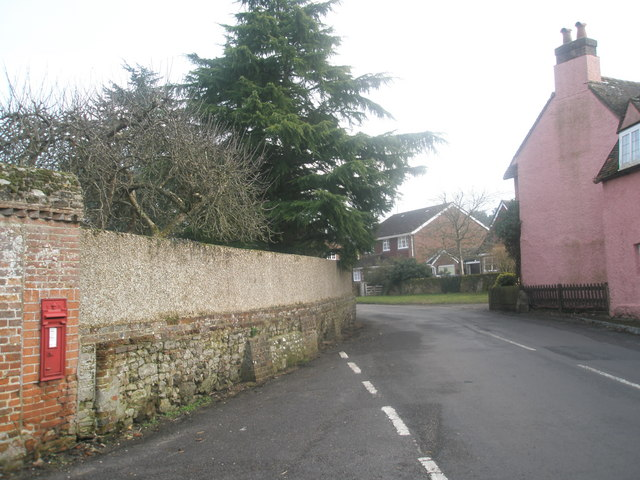 Postbox outside St Mary's, Frensham