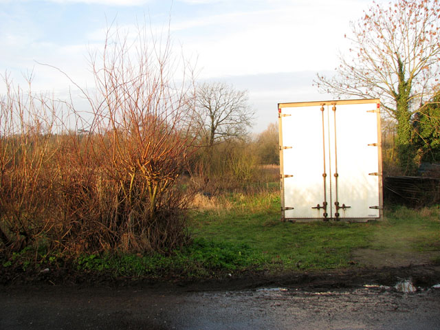 Container beside Acle Road