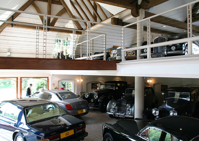 Interior view of Rolls-Royce dealership