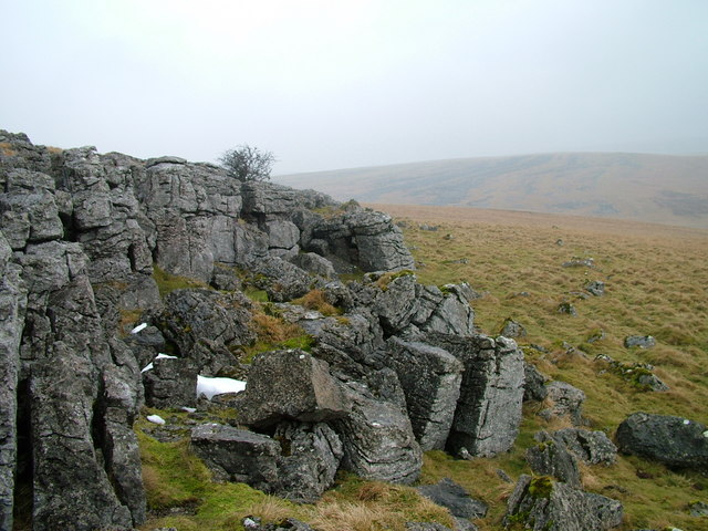 The edge of the limestone pavement, Middle Busk