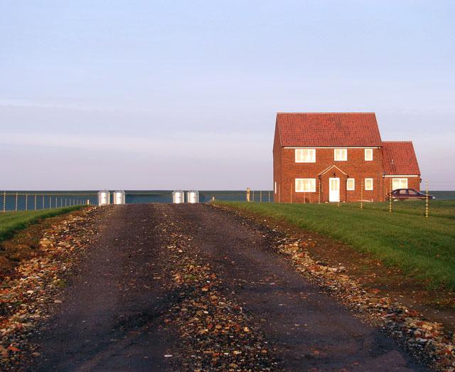 Driveway to York Hall Farm