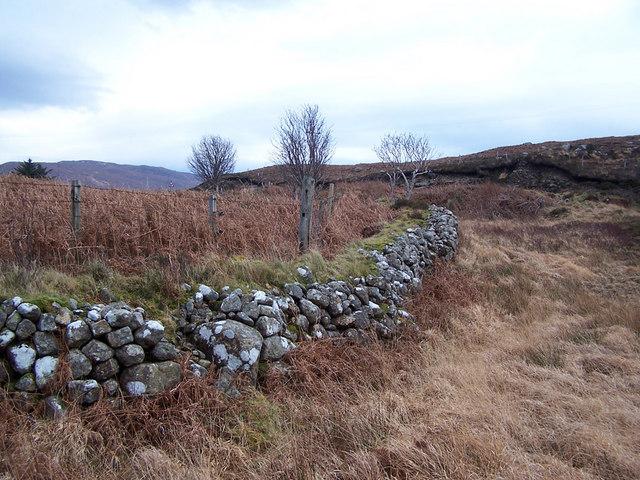 Old wall near Ard Dorch