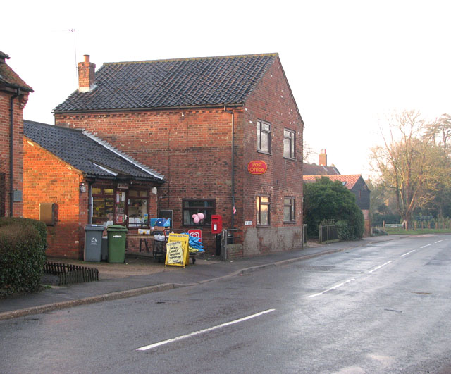 Freethorpe Post Office and shop on The Green