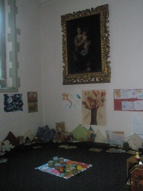 Play area within St Mary's, Frensham