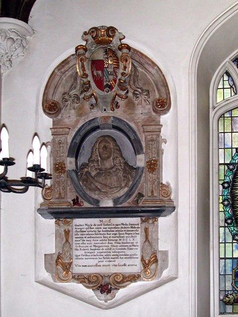 St Mary, Brentmead Gardens, West Twyford - Wall monument