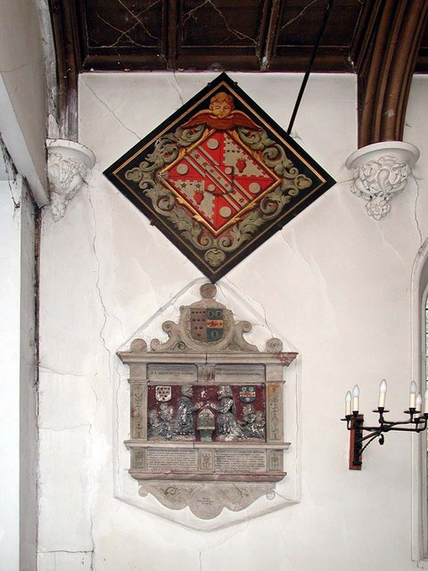 St Mary, Brentmead Gardens, West Twyford - Hatchment & monument