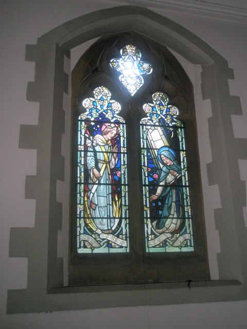 Stained glass window on the north wall at St Mary's Frensham (2)