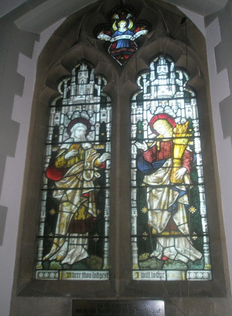 Stained glass window on the north wall at St Mary's Frensham (3)
