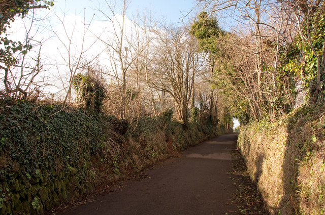 Lane from Pound's Park - Plymouth