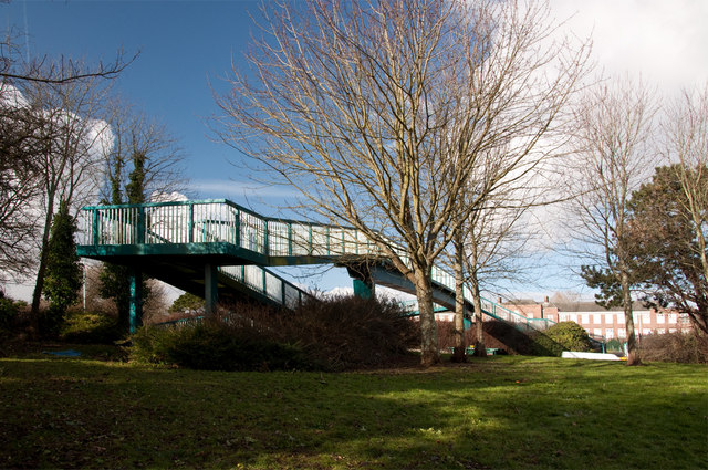 Footbridge over Outlands Road - Plymouth