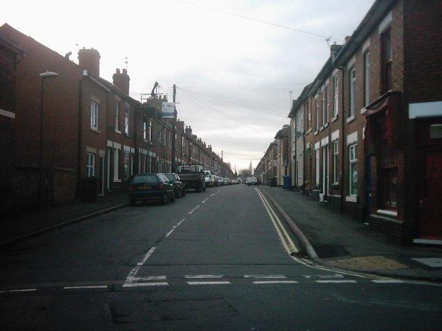 Stanley Street from Campion Street, Derby