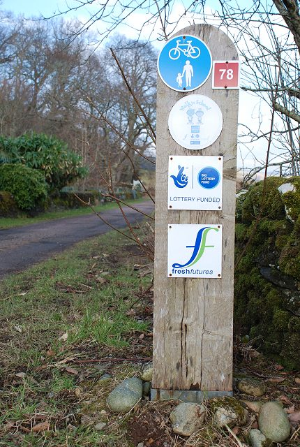 Signage on Kilmartin Coach Road