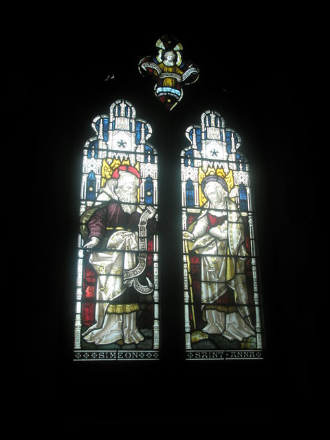 Stained glass window on the north wall at St Mary's Frensham (4)