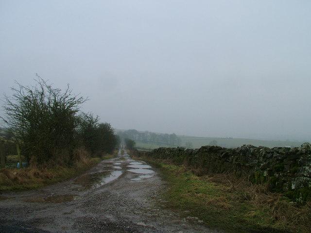 Muddy footpath to Beacham Barn