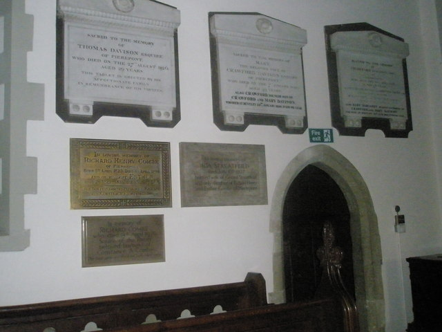 Memorials on the north wall at St Mary's, Frensham